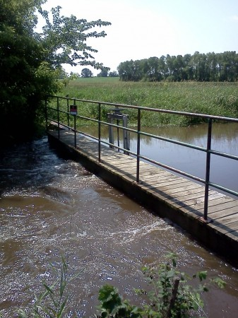 The weir south of County Road 13 and downstream of County Ditch 13