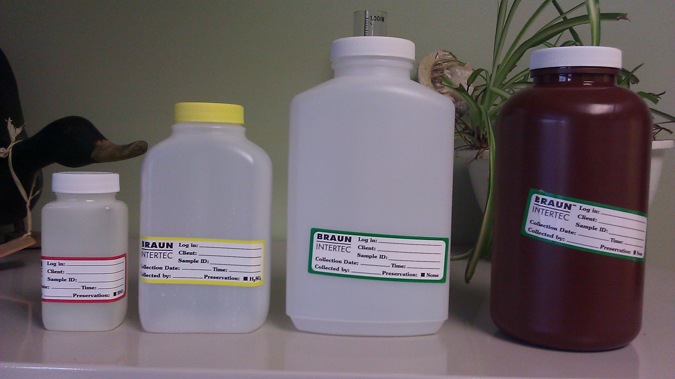 Sample Bottles | Prior Lake Spring Lake Watershed District