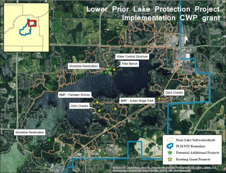Lower Prior Lake grant project map