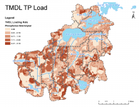 Phosphorus loading in the watersheds to Spring and Upper Prior lakes.
