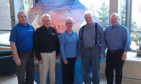 From left to right: Curt Hennes, Bill Kallberg, Marianne Breitbach, Bill Schmokel, & Bruce Thorsen