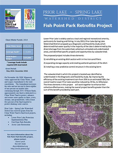 Clean Water Story - Fish Point Park