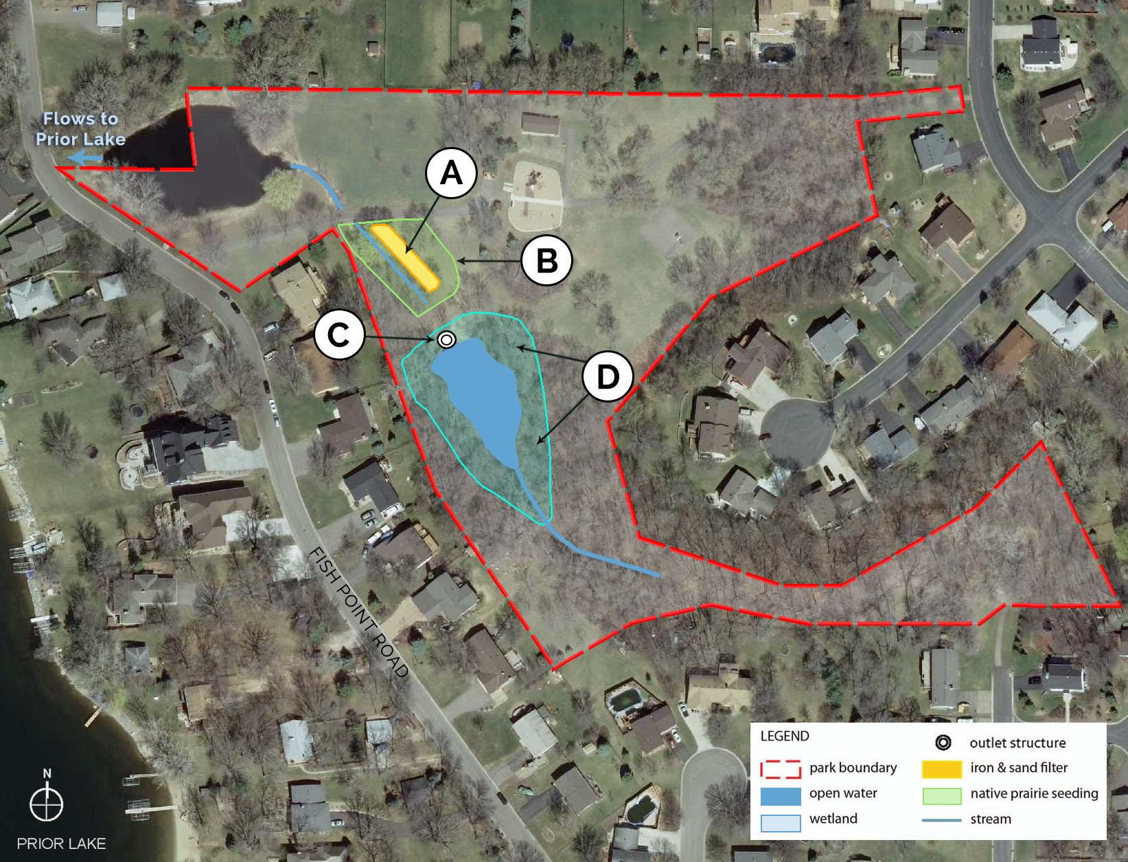map of prior lake mn Fish Point Park Map Prior Lake Spring Lake Watershed District map of prior lake mn